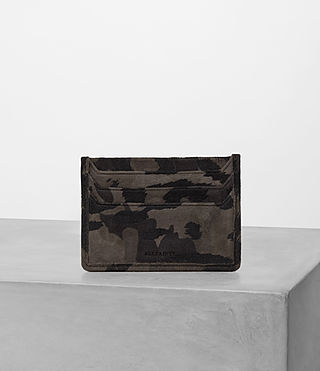 Mens Shard Leather Cardholder (FLOC CAMO) - product_image_alt_text_3