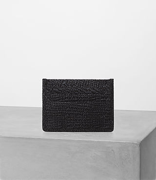 Hombre Shard Cardholder (BLACK SUEDE TWEED) - product_image_alt_text_1