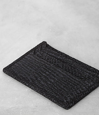 Hombre Shard Cardholder (BLACK SUEDE TWEED) - product_image_alt_text_2