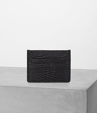 Hombre Shard Cardholder (BLACK SUEDE TWEED) - product_image_alt_text_3