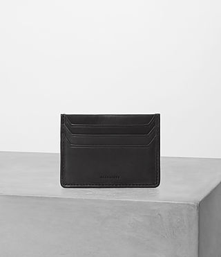 Mens Shard Leather Cardholder (Black) - product_image_alt_text_1