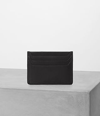Mens Shard Leather Cardholder (Black) - product_image_alt_text_3