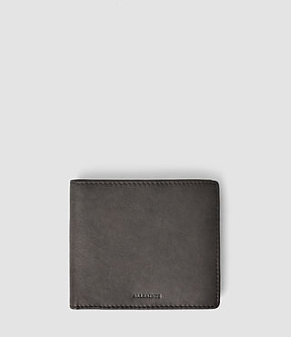 Hombre Blyth Leather Wallet (Slate Grey)