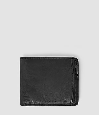 Mens Havoc Leather Wallet (Washed Black) - Image 1