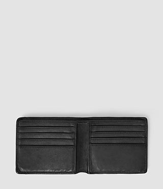 Mens Havoc Leather Wallet (Washed Black) - Image 3