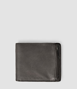 Hombres Havoc Leather Wallet (Slate Grey)