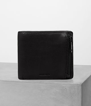 Mens Havoc Leather Wallet (Washed Black)
