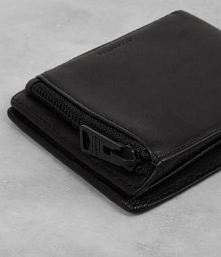 Uomo Havoc Leather Wallet (Washed Black) - product_image_alt_text_2