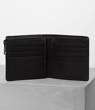 Mens Havoc Leather Wallet (Washed Black) - product_image_alt_text_3
