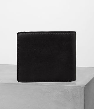 Mens Havoc Leather Wallet (Washed Black) - Image 4