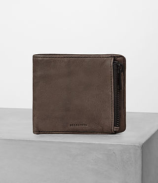 Hombres Havoc Leather Wallet (Washed Taupe)