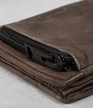 Mens Havoc Leather Wallet (Washed Taupe) - Image 2