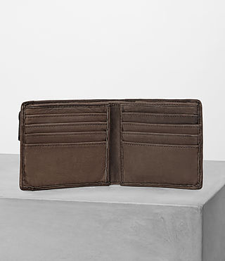 Mens Havoc Leather Wallet (Washed Taupe) - product_image_alt_text_3
