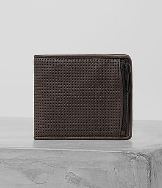 Hombre Havoc Perforated Leather Wallet (PERFORATD WSH CHOC) - product_image_alt_text_1
