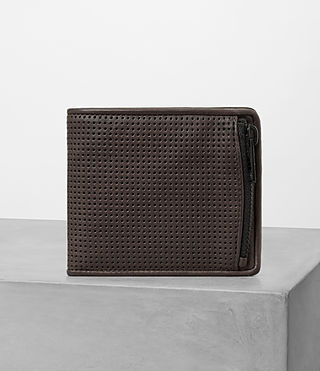 Hombres Havoc Leather Wallet (PERFORATED WSH CHC) -