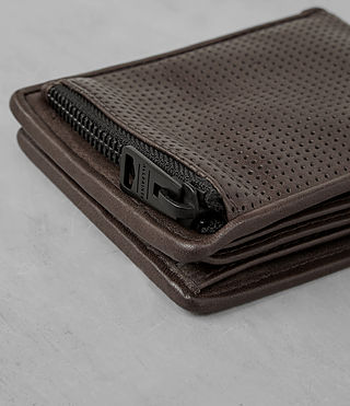 Hombres Havoc Leather Wallet (PERFORATED WSH CHC) - product_image_alt_text_2