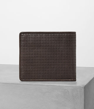 Hombres Havoc Leather Wallet (PERFORATED WSH CHC) - product_image_alt_text_4