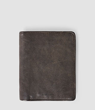 Hombres Curfew Leather Zip Wallet (Bitter Brown)