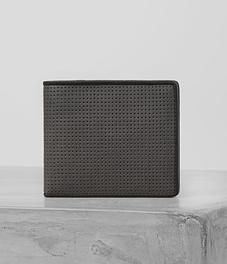 Mens Blyth Leather Wallet (PERFORATED GREY) - product_image_alt_text_2
