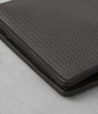 Men's Blyth Leather Wallet (PERFORATED GREY) - product_image_alt_text_3
