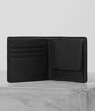 Hombres Blyth Leather Wallet (PERFORATED GREY) - product_image_alt_text_4