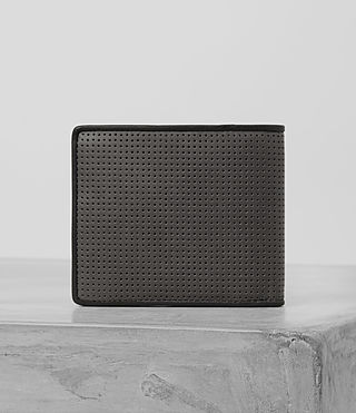 Hombres Blyth Leather Wallet (PERFORATED GREY) - product_image_alt_text_5