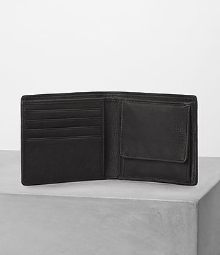 Mens Blyth Leather Wallet (Black) - product_image_alt_text_3