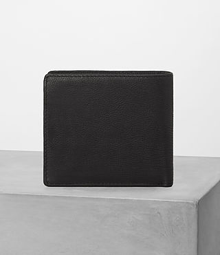 Hombre Blyth Leather Wallet (Black) - product_image_alt_text_4