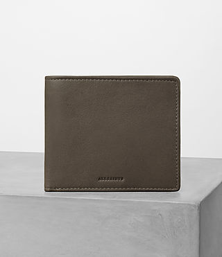 Hombres Blyth Leather Wallet (Taupe) -