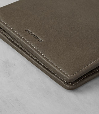 Hombres Blyth Leather Wallet (Taupe) - product_image_alt_text_2