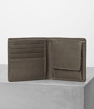 Hombres Blyth Leather Wallet (Taupe) - product_image_alt_text_3