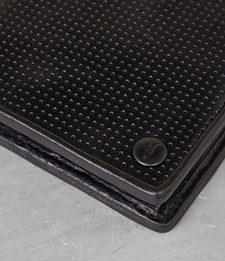 Mens Blyth Wallet (Black Perforated) - Image 2