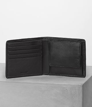 Mens Blyth Wallet (Black Perforated) - Image 3