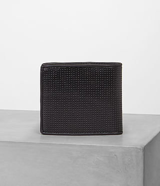 Mens Blyth Wallet (Black Perforated) - Image 4