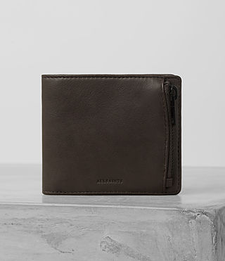 Hommes Havoc Leather Wallet (Bitter Brown)