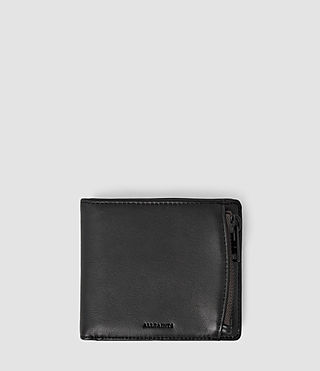 Mens Havoc Leather Wallet (Washed Black) - product_image_alt_text_1