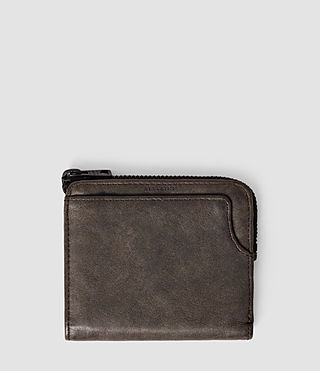Hombres Cleat Leather Wallet (Bitter Brown) -