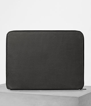 Herren Monument Leather Case (PERFORATED GREY)