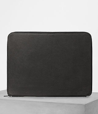 Herren Monument Leather Case (PERFORATED GREY) - product_image_alt_text_5