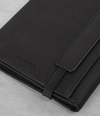 Hombres Detour Travel Wallet (Black) - product_image_alt_text_3