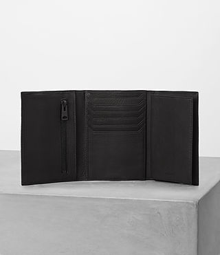 Hombres Detour Travel Wallet (Black) - product_image_alt_text_4