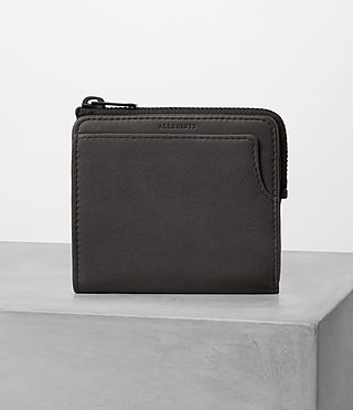 Hommes Cleat Leather Wallet (Slate Grey)