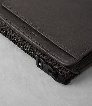 Mens Cleat Leather Wallet (Slate Grey) - product_image_alt_text_2