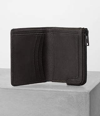 Mens Cleat Leather Wallet (Slate Grey) - product_image_alt_text_3