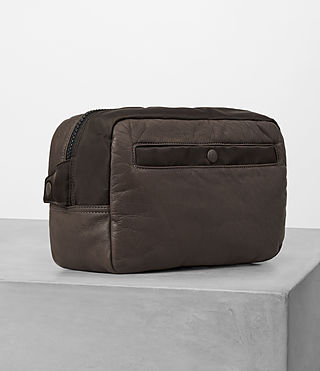 Hommes Shoto Leather Washbag (WASHED TAUPE/KHAKI) - product_image_alt_text_3