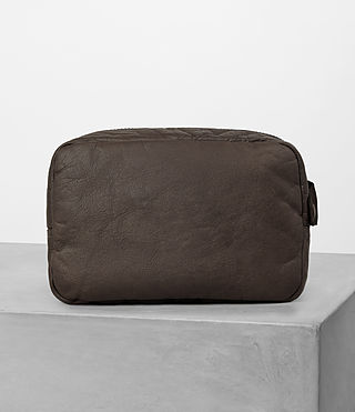Hommes Shoto Leather Washbag (WASHED TAUPE/KHAKI) - product_image_alt_text_4