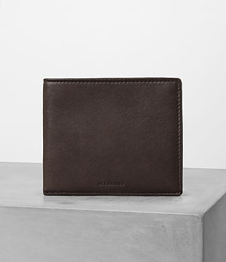 Hommes Apex Leather Wallet (Choc/Black)