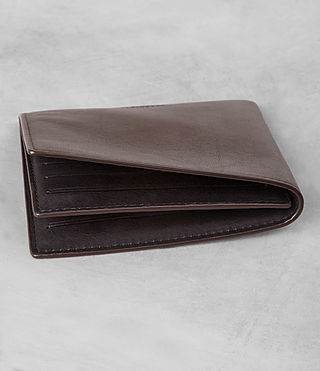Men's Apex Leather Wallet (Choc/Black) - product_image_alt_text_2