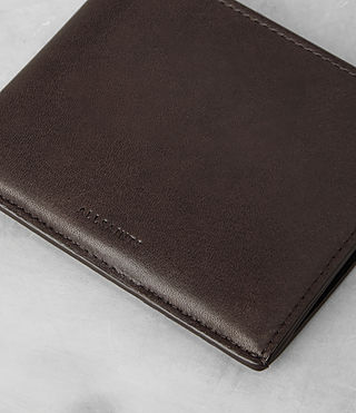 Men's Apex Leather Wallet (Choc/Black) - product_image_alt_text_3