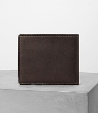 Men's Apex Leather Wallet (Choc/Black) - product_image_alt_text_4